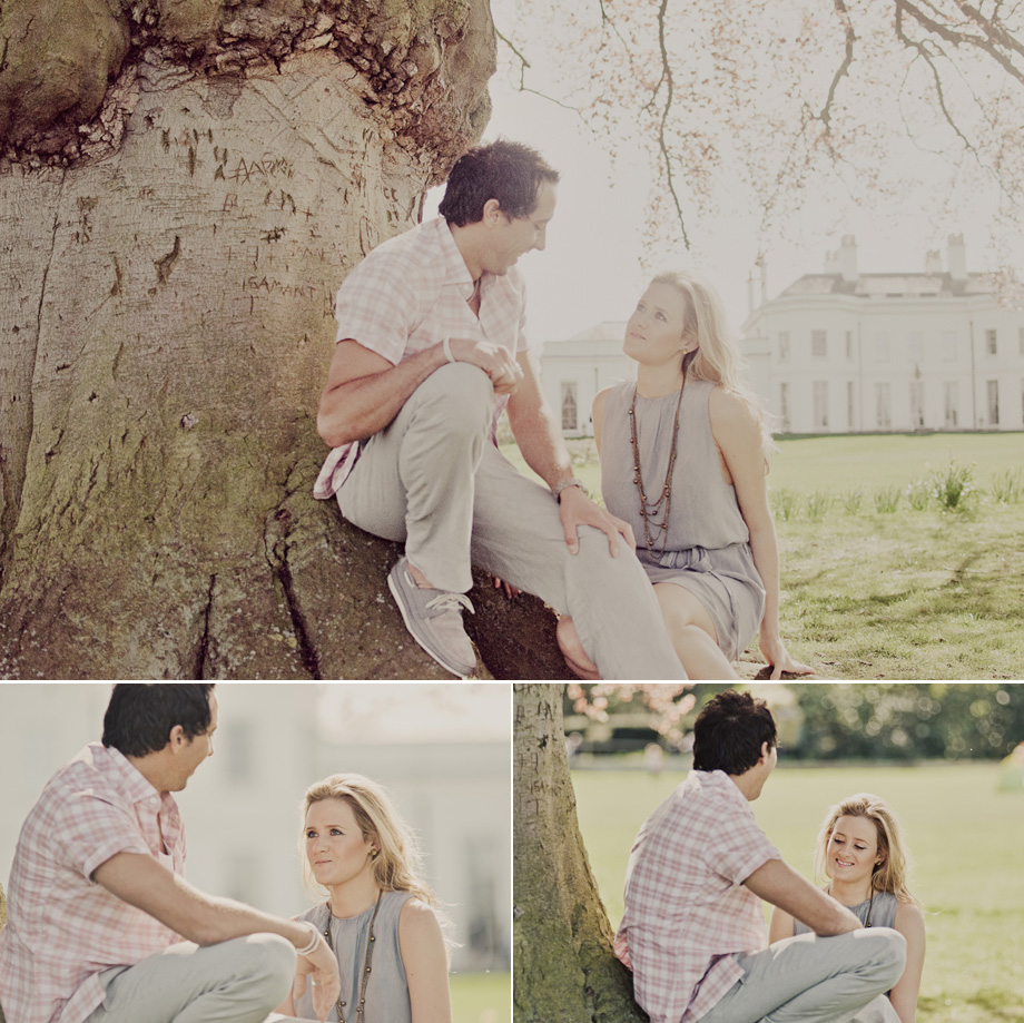 Engagement portraits at Hylands House, Essex