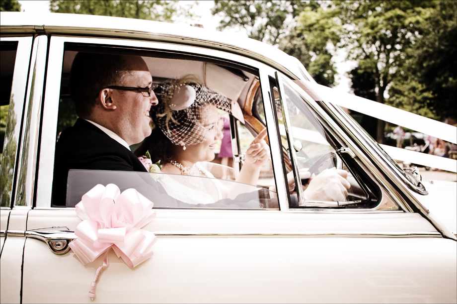 Vintage Wedding Photographer Car