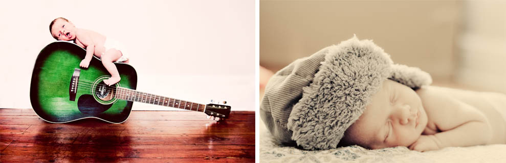 photos from a newborn baby photography session
