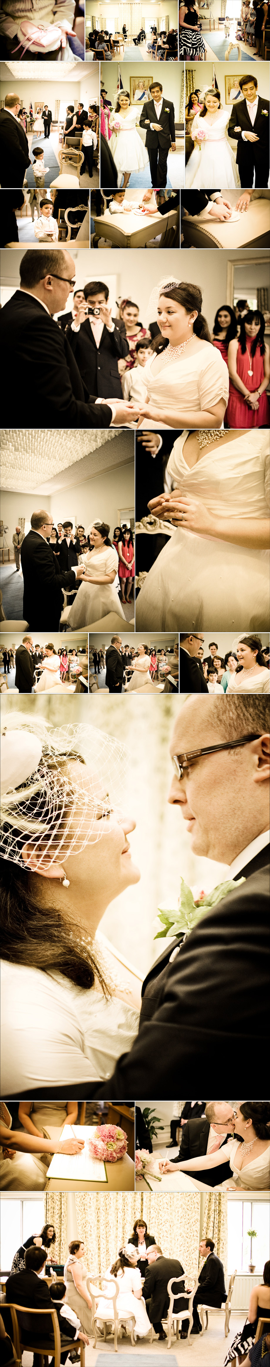 Vintage wedding - exchange of wedding vows