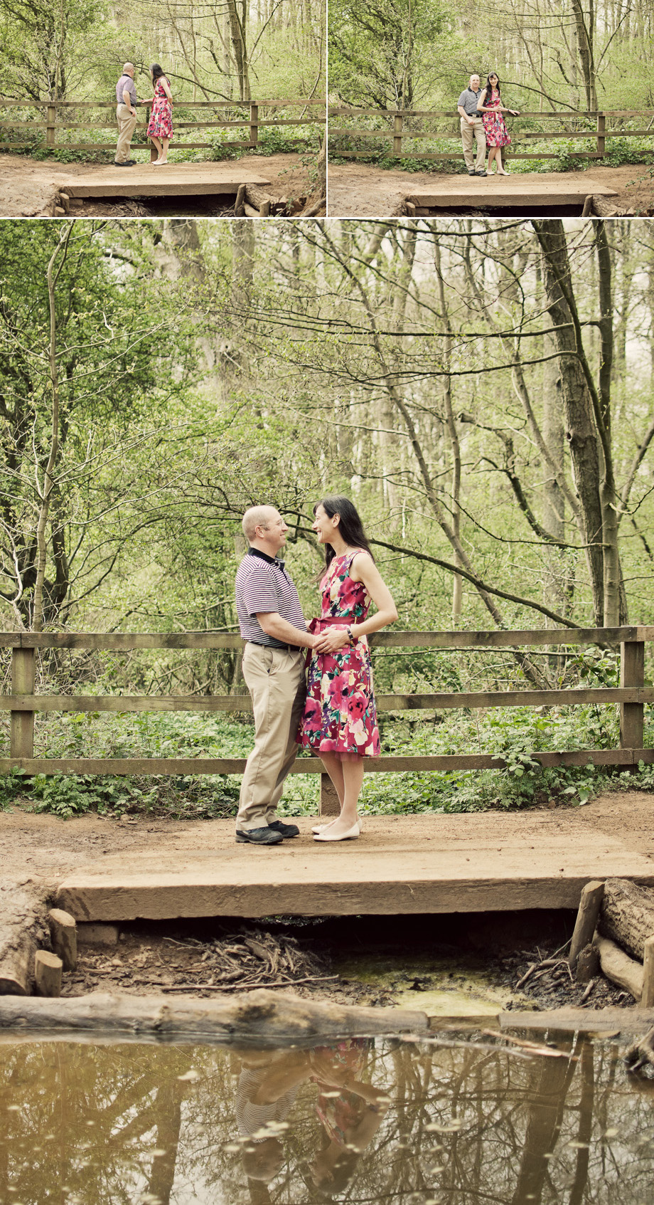 Leighton Buzzard engagement portraits for June Wedding
