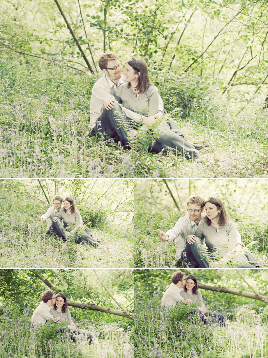 bluebell woods engagment portrait photos