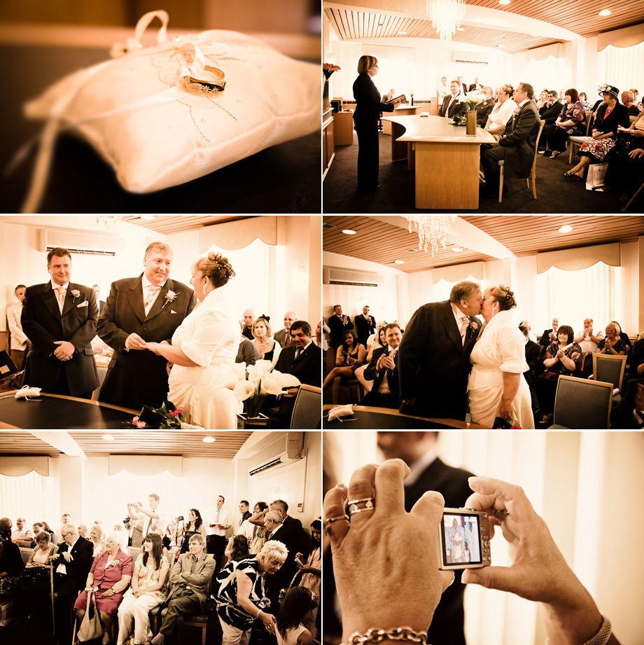 Epping registry office wedding ceremony