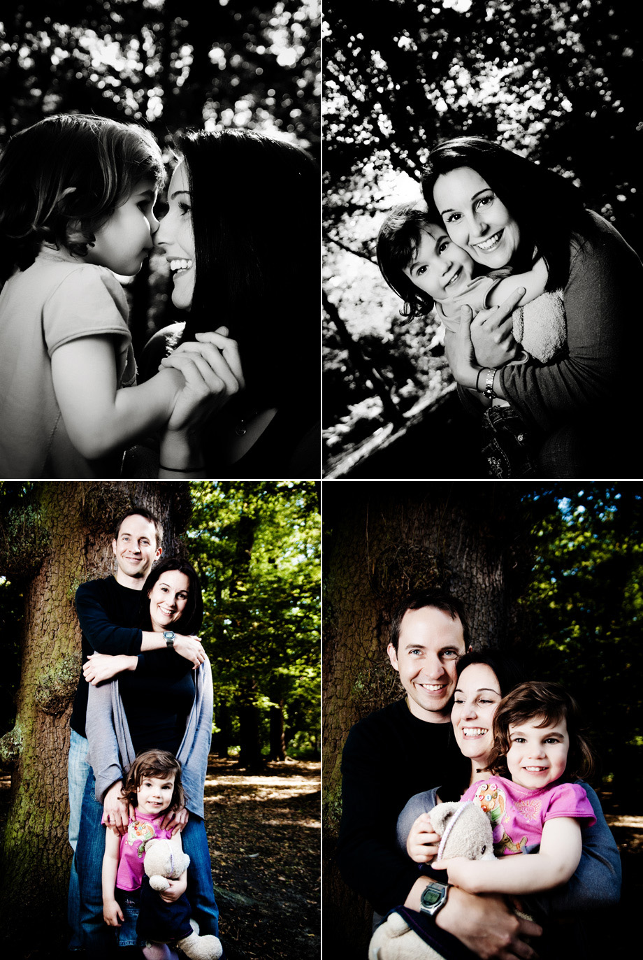 London family portraits in the summer