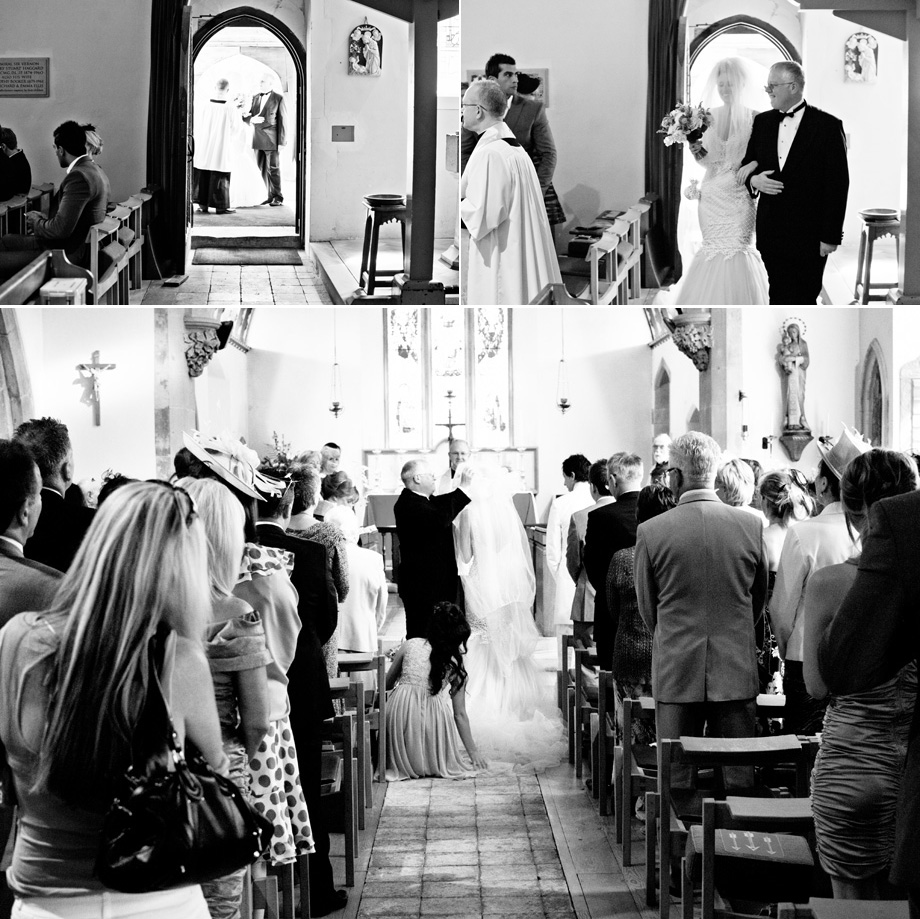 Brides procesional for All Saints Church wedding