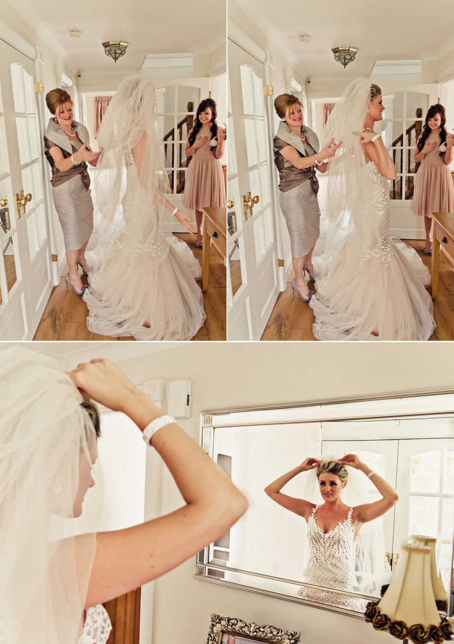 bridal preparations for wedding