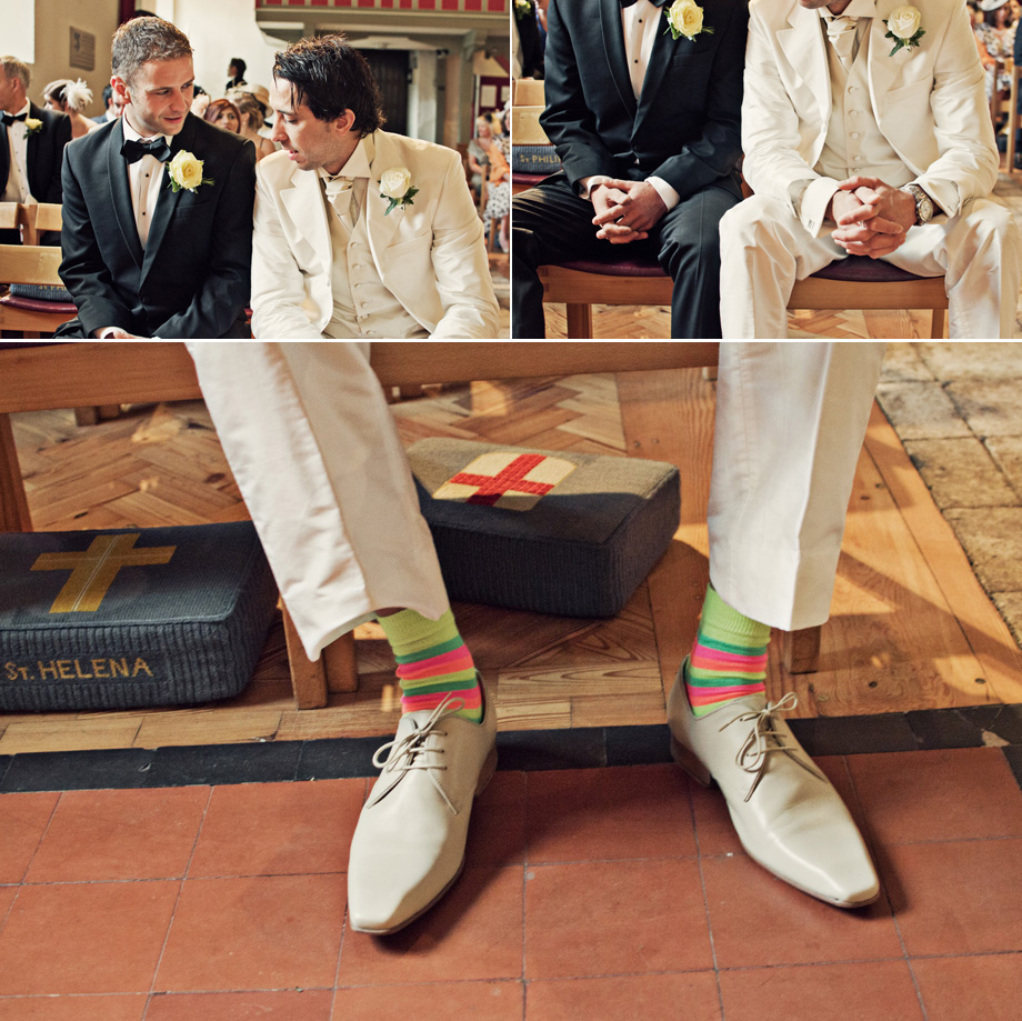 brentwood groom waiting in church