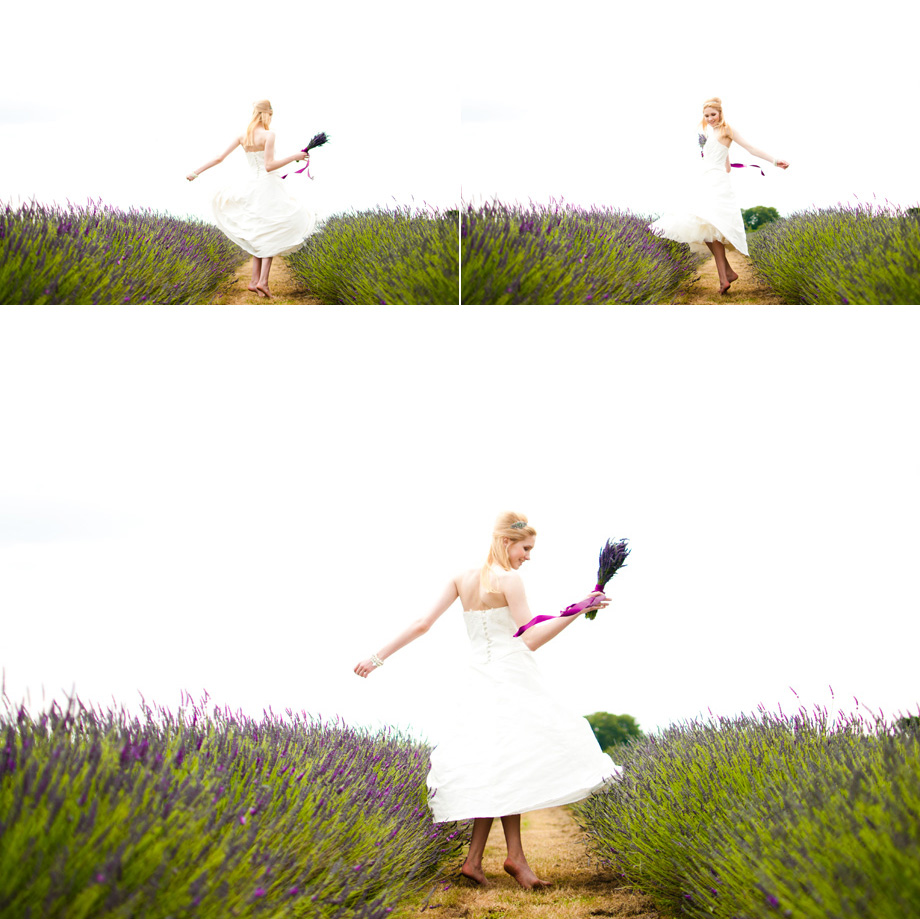 london bride dancing in lavender