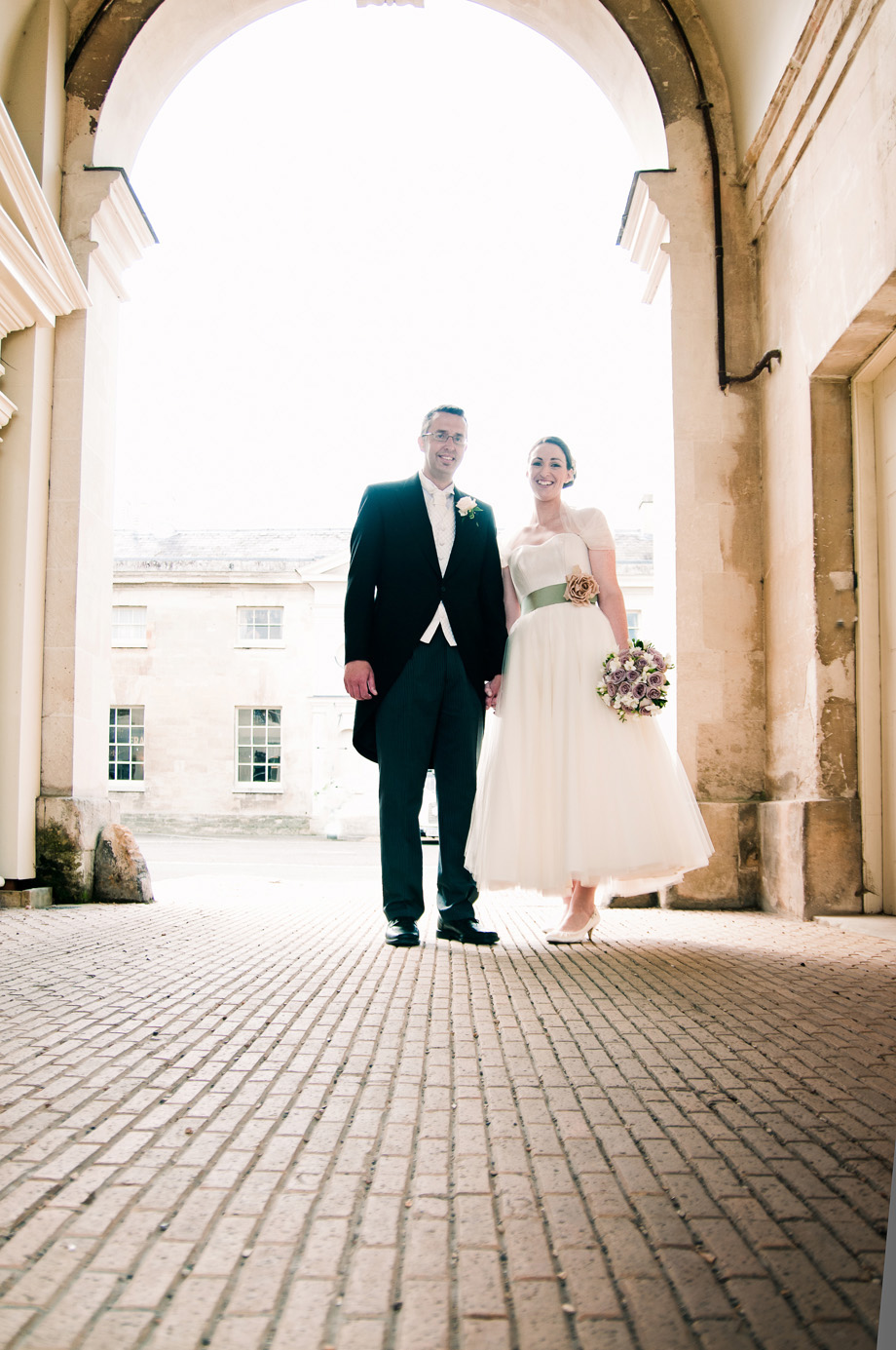 woburn abbey portraits of bride and groom