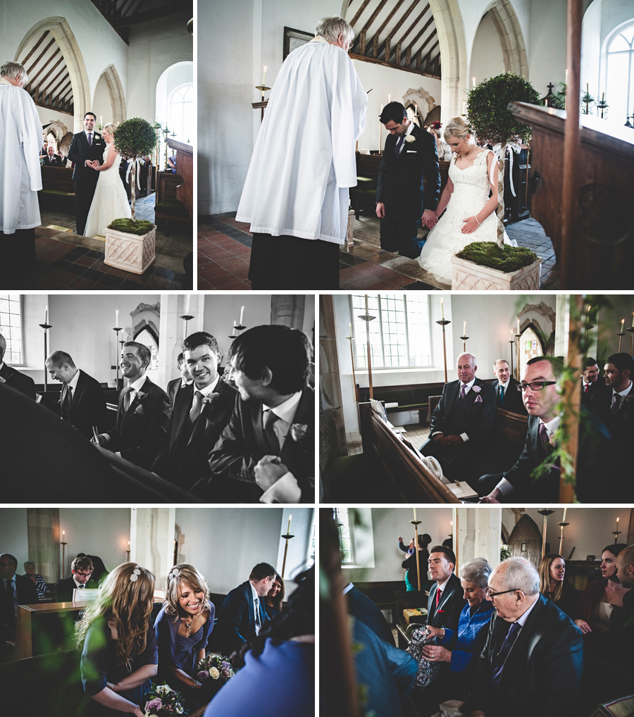 St Mary's Church Buttsbury wedding guests