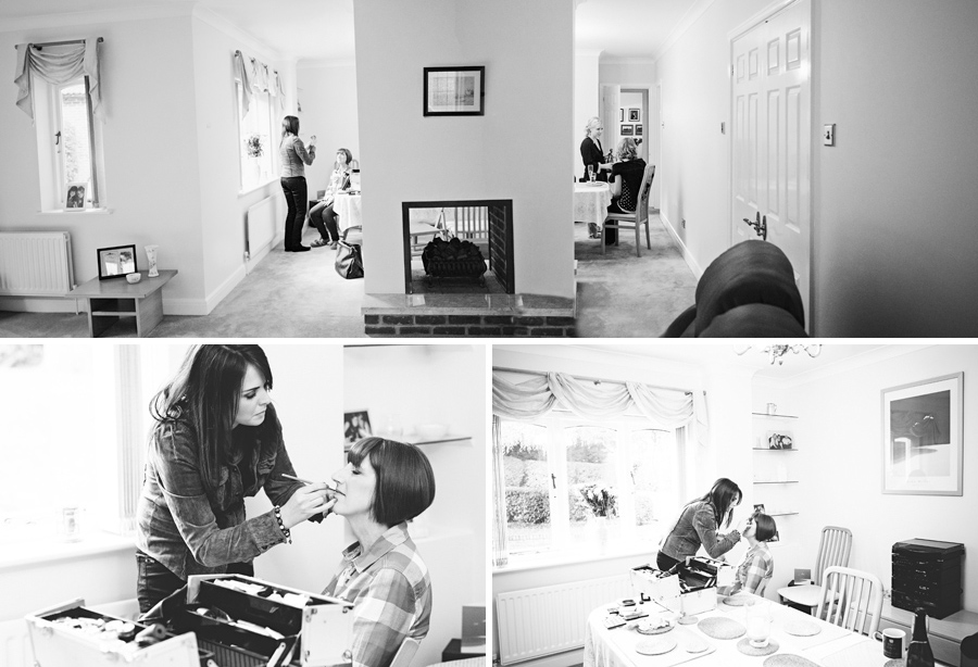 Essex wedding photography: make-up and hair