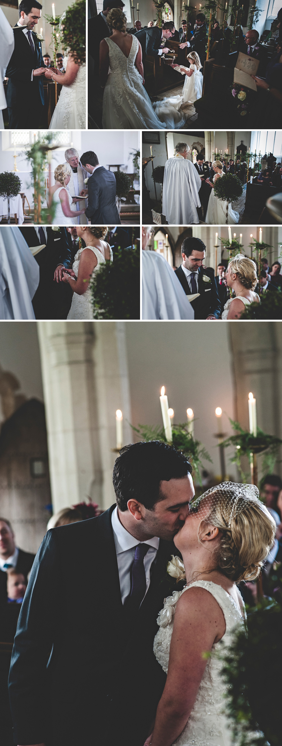 Ingatestone Hall Wedding kiss