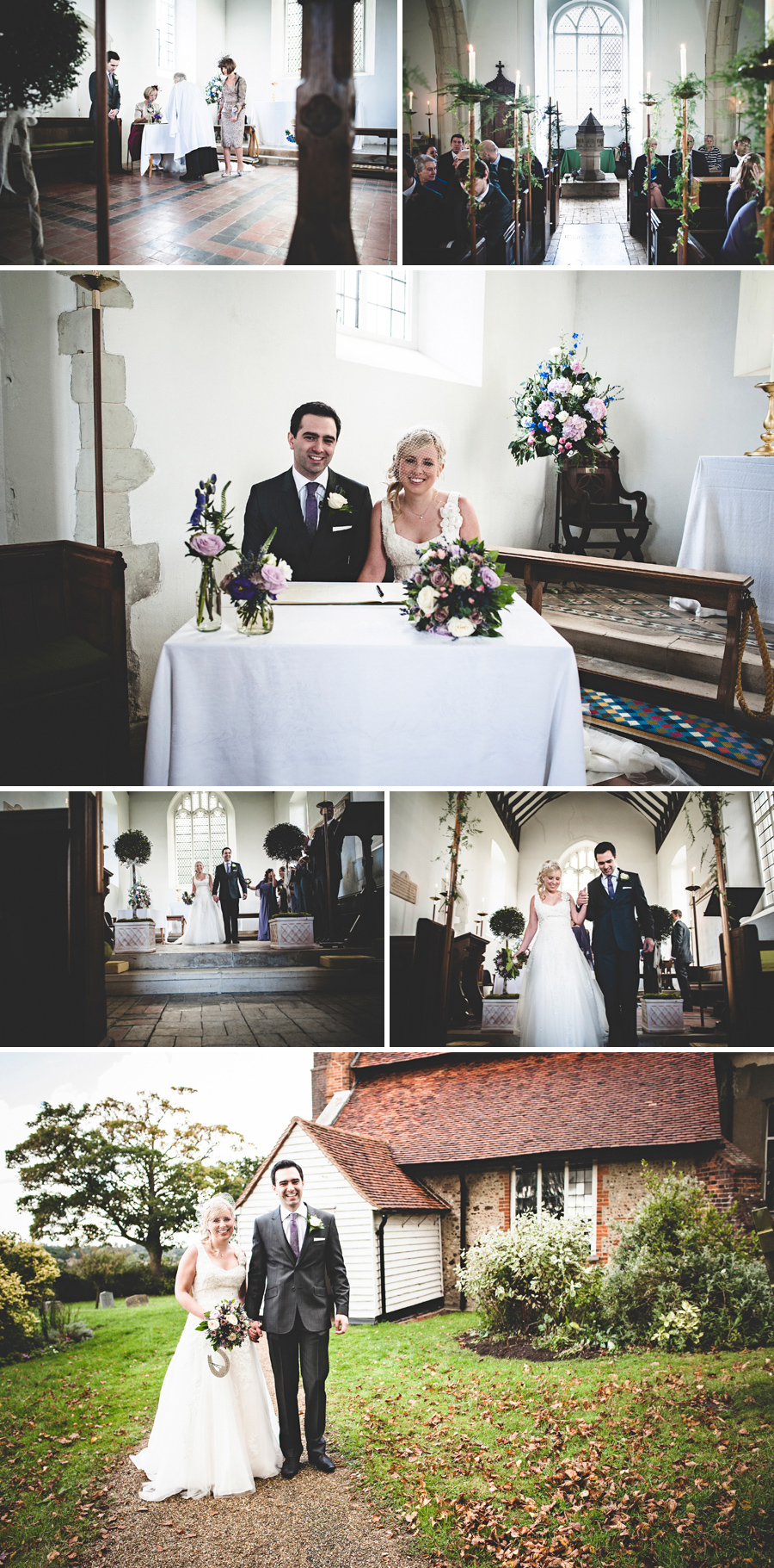 Essex wedding photography: Church ceremony