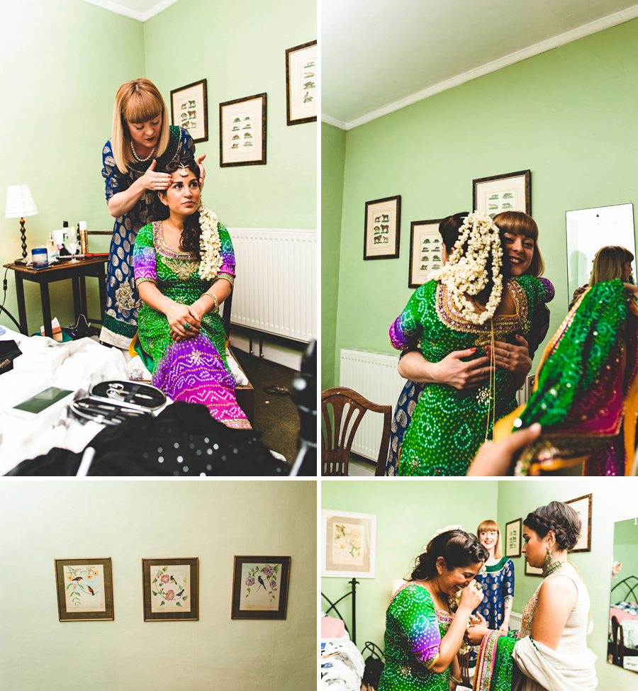 Asian bride preparations for wedding